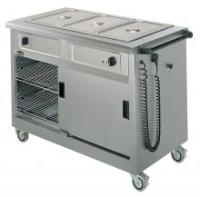 Lincat GBM3A Mobile Hot Cupboard with Bain Marie